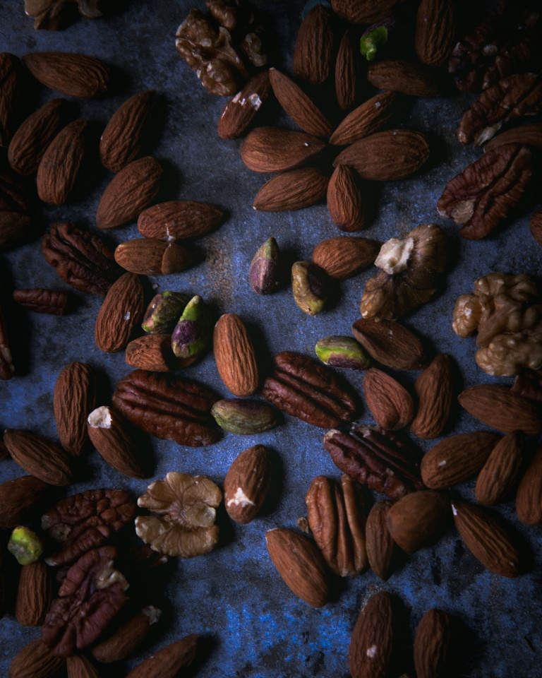 Almonds, pistachios and walnuts