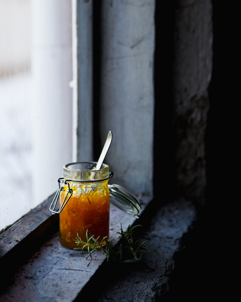 Orange and rosemary marmalade