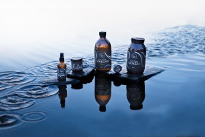 Product family shot on water