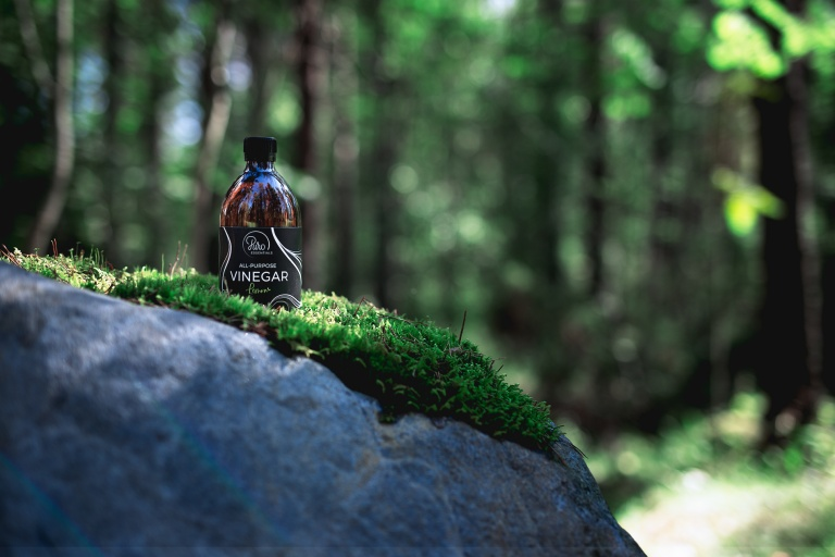 Product shot in the forest