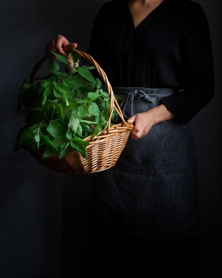 Nettles in a basket
