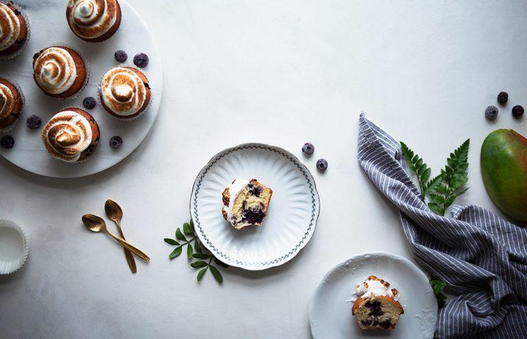 Mustikka marenki muffinit